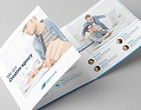 Miniminimal Brochure Tri-Fold Square – Print Template