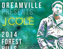 J.cole 2014 Forest Hills Drive Tour Poster
