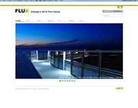 Site web de la société Flux Lighting