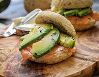 Avocado salmon mix