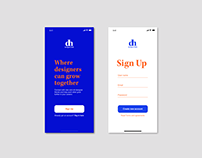Daily UI Challenge 001, Sign up