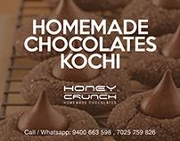 Honey Crunch Homemade chocolates_Branding