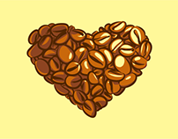 Heartbeat for Coffee T-shirt design