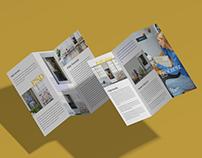 Free Brand Front Back Tri-Fold Brochure Mockup PSD