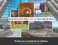 Aviso Sika, Metro de Santiago