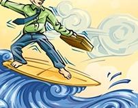 Le Saint, le Surfeur et le PDG (Un Monde Différent)