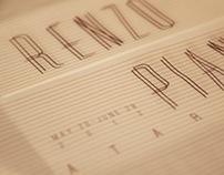 Renzo Piano Ataraxis Exhibition Identity