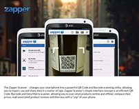 Re-Design Concept: Zapper QR Scanner & Manager