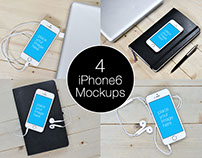 iPhone 6 Mockup Templates-Pack of 4