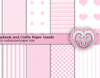 Digital Scrapbooking and Crafts Paper Pack