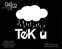 TEK U and TECH ME STICKERS ADVERTISING