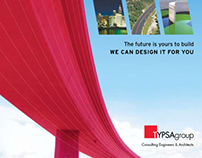 Marketing brochure for engineering + architecture firm