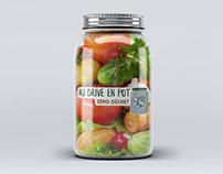 """Refonte d'un logo pour """"Au drive en pot"""""""