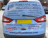 Vehicle livery on Ford Galaxy MPV for Park Lane House