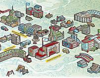 Carte montrant un modèle ville-région (pour MRNFQ)