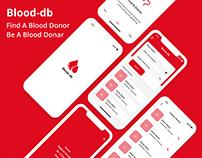 Blood-db: Blood Donation App UI/UX