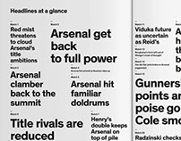 Typography  plays the Arsenal  way.