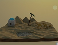 LowPoly desert view