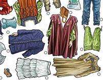 Livret informatif costumes d'époque (pour Parcs Canada)