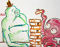 """The Daily Slimer"" Whiteboard Sketches"