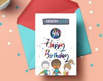 BIRTHDAY GREETING CARD | EDITORIAL DESIGN