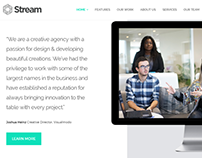 Stream WordPress Theme - One-Page Anchor Section