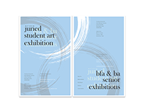 IWU student show & senior exhibition poster set