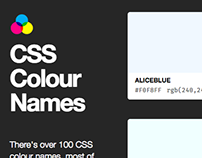 CSS Colour Names Chart