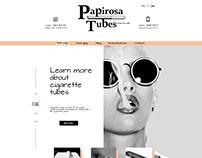 Design site Papirosa Tubes.