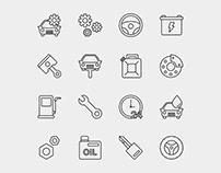 Car Service Icons – Part 01