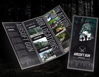 Trifold flyer print template