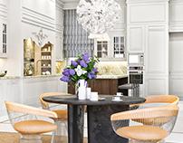 L'Ottocento-Floral kitchen 3D-Visualization&Design