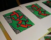 Linocut Turtles