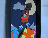 Paper Frame for Christmas