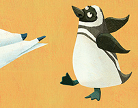 Penguin and Arctic Tern spot illustrations