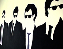 Reservoir Dogs Mural