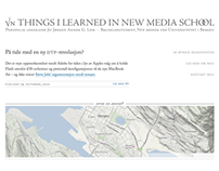 √N Things I Learned in New Media School