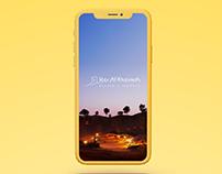 Ras Al Khaimah App Design
