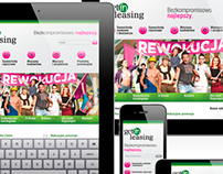 Getin Leasing responsive website layout