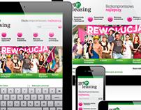 Getin Leasing responsive website layout