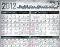 THE DARK SIDE OF ELECTRONIC MUSIC CALENDER 2012