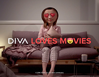 DIVA Loves Movies - Ident - Love