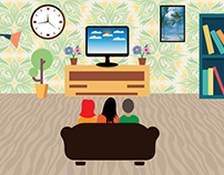 Family time illustration (FLAT DESIGN)