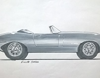Sketch: Jaguar E-Type