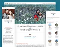 Williams Colmenares Wedding Website
