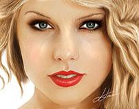 Taylor Swift Digital Portrait