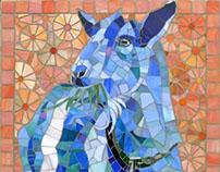 "Goat Mosaic: ""Gimli"""