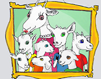 ebook illustrations Goats