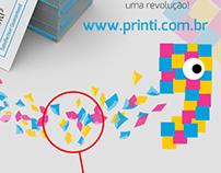 Aplicação complementar ao Logo da Printi gráfica online