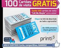 """Promoção Cartão de visita """"Call me, maybe"""" no Facebook"""